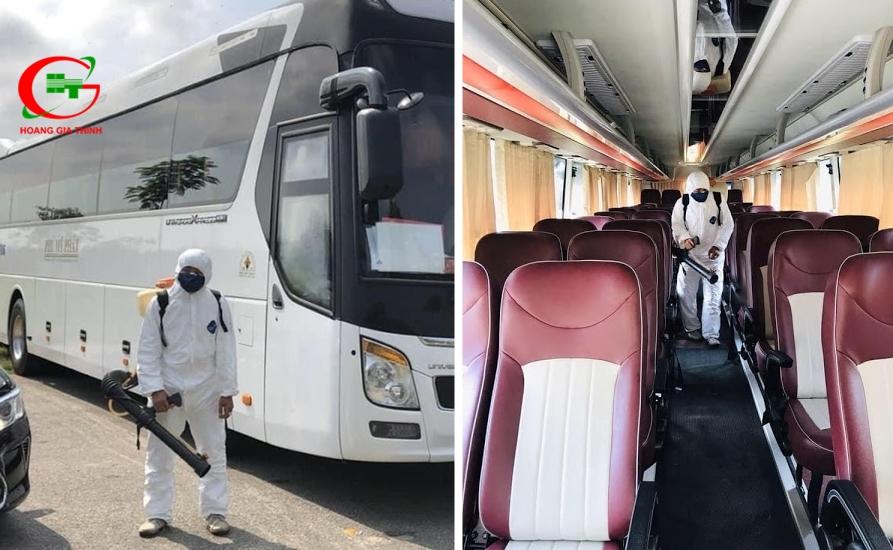 Thuê xe du lịch Hoàng Gia Thịnh khử trùng an toàn